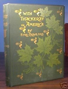 Cover of 'With Thackeray in America' (1893)