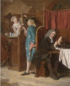 'Dean Swift at St James's Coffee House, 1710' by Eyre Crowe (1860)