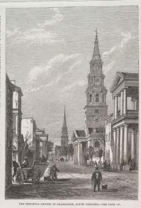 'The Principal Church in Charleston, South Carolina' by Eyre Crowe (1861)