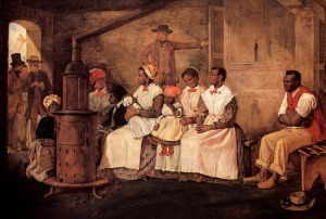 'Slaves Waiting for Sale' by Eyre Crowe (1861). Heinz collection, Washington DC  Published in Guy C. Elroy, 'Facing History: the Black Image in American Art, 1710-1940'