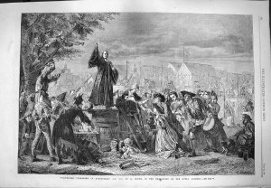 'Whitefield Preaching in Moorfields, A.D. 1742' by Eyre Crowe (1865)
