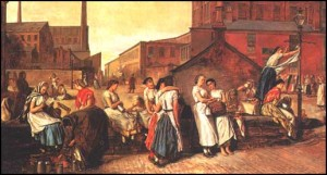 'The Dinner Hour, Wigan' by Eyre Crowe (1874)