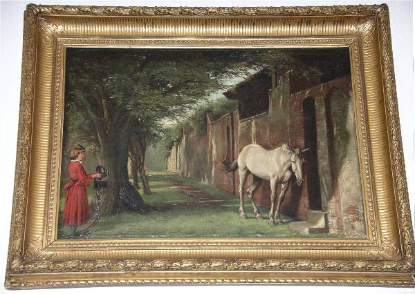 'An Old Nag Is A Sly Nag' by Eyre Crowe A.R.A. (1883)