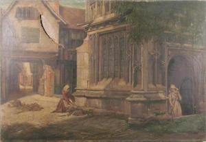 'Old Porch, Evesham' by Eyre Crowe A.R.A. (1883)