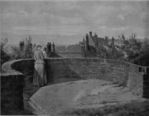 'On the Boulogne Ramparts' by Eyre Crowe A.R.A. (1899)