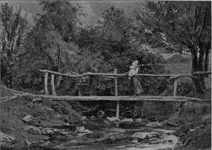 'Crossing the Brook' by Eyre Crowe A.R.A. (1899)