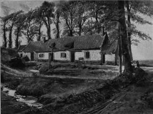 'Farmhouse in the Boulonnais' by Eyre Crowe A.R.A. (1894)