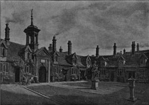 'Fishermen's Home, Great Yarmouth' by Eyre Crowe A.R.A. (1895)