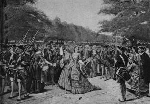 'Lady Coventry's Escort' by Eyre Crowe A.R.A. (1892)