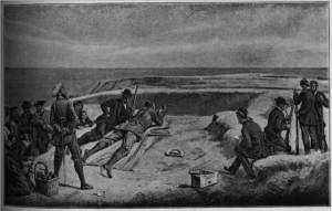 'A Rifle Match - at Dunnottar, N.B.' by Eyre Crowe A.R.A. (1890)