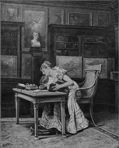 'Writing a Message to St Helena' by Eyre Crowe A.R.A. (1891)