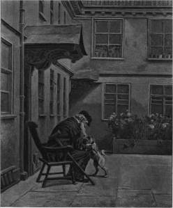 'The Mourners - a Corner of the Sailors' Home, Bristol' by Eyre Crowe A.R.A. (1895)