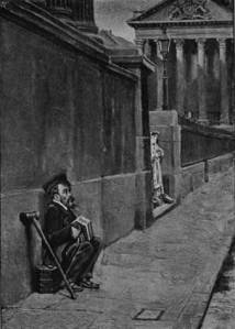 'The Concertina Player of Trafalgar Square' by Eyre Crowe A.R.A. (1902)