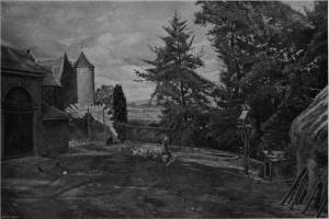 'The Poultry Yard' by Eyre Crowe A.R.A. (1900)