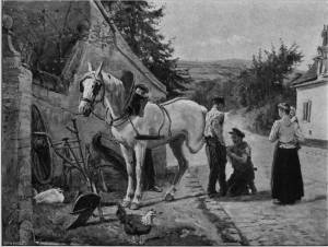 'The Village Farrier' by Eyre Crowe A.R.A. (1903)