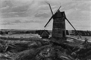 'The Windmill of Crécy' by Eyre Crowe A.R.A. (1903)
