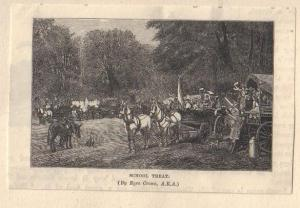 Reproduction of 'School Treat' by Eyre Crowe A.R.A. (1878)