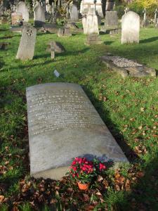 Eyre Crowe's grave, Kensal Green Cemetery, 12 December 2010
