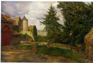 'The Poultry Yard' by Eyre Crowe (1900)