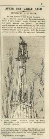 Steeple Repair 19 Nov 1891